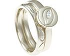 charlottes leaf inspired engagement and wedding ring set