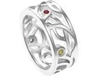 sonali's beautiful bespoke sterling silver intricate wedding ring