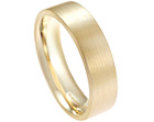 yellow gold wedding ring with satinised finish