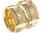 victor and richard's matching engraved yellow gold wedding rings