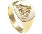 mike's yellow gold seal engraved signet ring