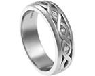nikki's celtic inspired palladium and diamond engagement ring