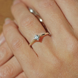 dfd15637c9a62 Beautifully classic one-off 9ct white gold love inspired engagement ring