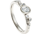 organic sea-bed inspired 9ct white gold and diamond engagement ring