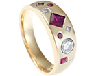 dorothy's 9ct yellow gold ruby and diamond eternity ring