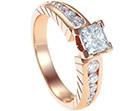emma's surprise art deco diamond and rose gold engagement ring