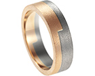 peter's mixed metal tunstall finish wedding ring