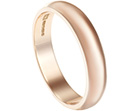 hand-finished 9ct rose gold wedding ring