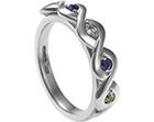 leah's palladium celtic multi-coloured engagement ring