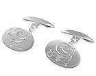 dave's bespoke silver snail engraved cufflinks