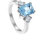 scissor cut topaz and 0.28ct diamond palladium engagement ring