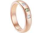 rosina's surprise 9ct rose gold, diamond and topaz eternity ring