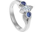 katie's marquise diamond and tanzanite engagement ring