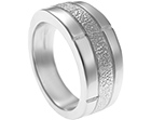 nikki's sterling silver brick work inspired dress ring