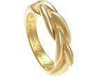 sarah's bespoke 18ct yellow gold plait eternity ring