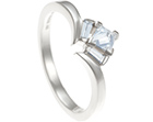 a fairtrade 9ct white gold and diamond art deco engagement ring