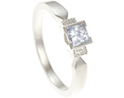 fairtrade 9ct white gold and 0.32ct recycled diamond engagement ring