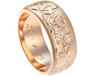 morten's unusual dragon and lion engraved wedding ring