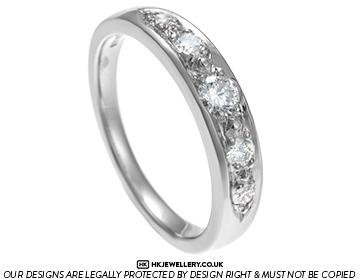 vintage style 0.43ct diamond and palladium engagement ring