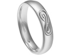 grant's sterling silver band with infinity engraving