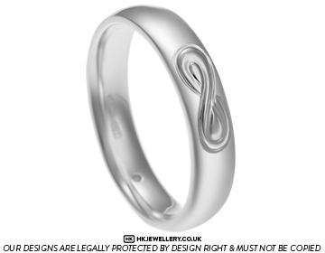 Grants Sterling Silver Band With Infinity Engraving