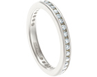 jo's bespoke 9ct white gold and diamond full eternity ring