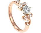 kirsty's surprise rose gold engagement ring