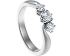 christina's surprise trilogy engagement ring with diamonds