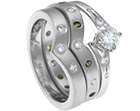 helen's platinum diamond and sapphire eternity ring