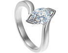 christina's dramatic twist style platinum engagement ring