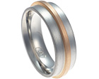 steve's medieval inspired mixed metal wedding ring