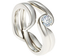 rebecca's fitted cage 9ct white gold wedding ring