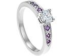 adam and ceri's cushion cut diamond ring with sapphires