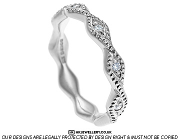 """rippling water"" 0.068ct diamond and 9ct white gold eternity ring"