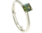 ben and marianne's green tourmaline and white gold eternity ring