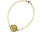 sandra's fairtrade yellow gold button bracelet