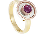 madeline's dress ring in fairtrade gold with a fairly traded ruby