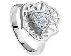 sydney opera house inspired 0.75ct trillion cut diamond solitaire