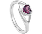 laura's ruby heart cut platinum engagement ring
