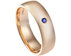 diane's 18ct rose gold and sapphire ring using her own sentimental gold