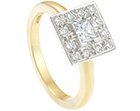sue's stunning two-toned gold and diamond engagement ring
