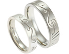 cillian and stefanie's celtic inspired fairtrade wedding rings