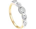 barbara's mixed metal and diamond ring