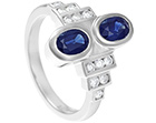 philippa's redesigned dual sapphire art deco dress ring