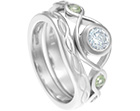 heather's celtic inspired platinum wedding ring