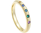 helen's multi-coloured yellow gold birthstone eternity ring