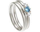 katie's bespoke 18ct white gold aquamarine and diamond engagement ring