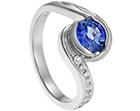 miriam's unique handmade celtic inspired sapphire engagement ring