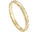 ann's 22ct yellow gold twist ring