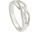 melanie's silver and diamond wedding ring